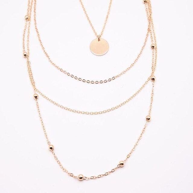 New fashion trendy jewelry choker multi layer necklace for women Boho Layering 1