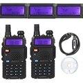 2x baofeng uv-5rtp vhf/uhf 136-174/400-520 mhz fm de alta potencia 1/4/8 w ham radio de dos vías walkie talkie + cable de programación y cd