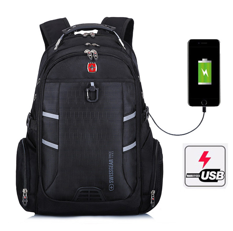 Man Multifunction sac a dos Swiss laptop Backpack USB Charging Casual Business Backpack Travel Bag Anti-theft Laptop Mochila swisswin black business backpack male swiss military 15 6 computer bag mochila masculino orthopedic backpack sac a dos sw6007v