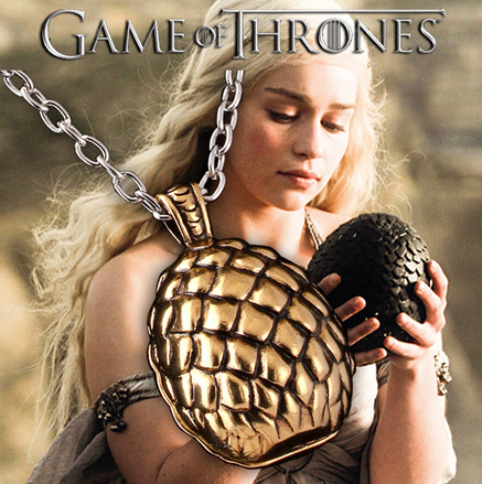 Game Of Thrones Song Of Ice And Fire Dragon Egg Pendant Necklace