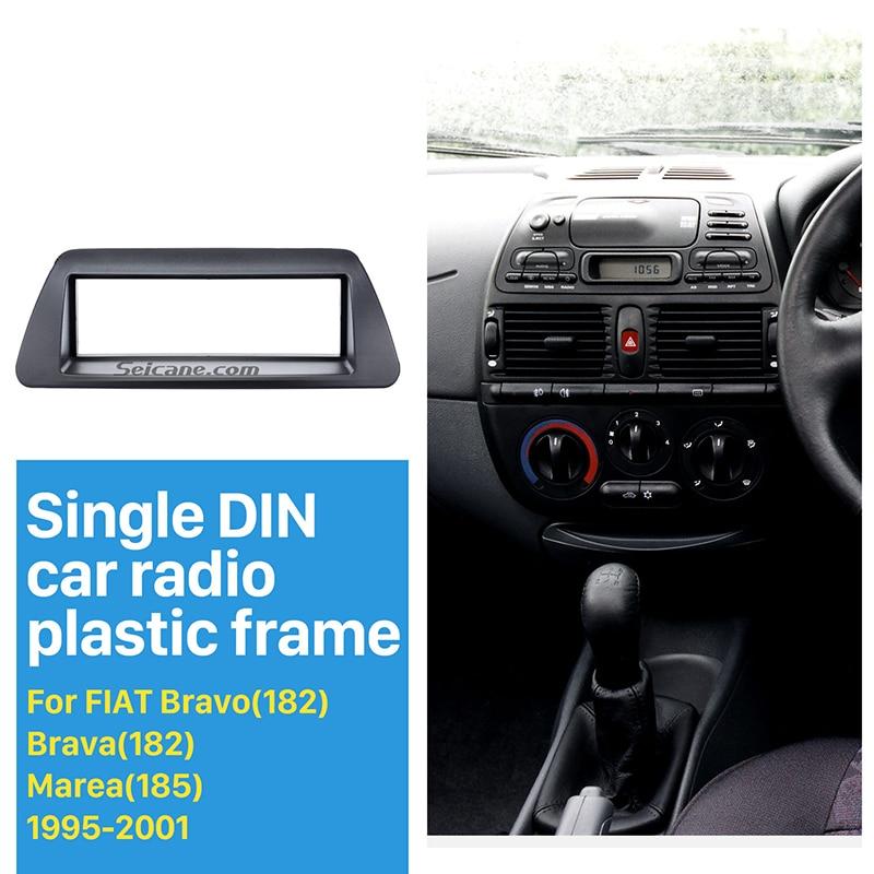 Seicane Perfect New 1 Din Car Radio Fascia for 1995-2001 FIAT Bravo 182 Brava 182 Marea 185 Panel Frame Audio Cover Trim Bezel
