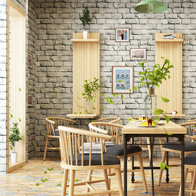 Pvc retro simple brick wallpapers living rooms restaurants clothing stores coffee shops restaurants salon club wallpapers