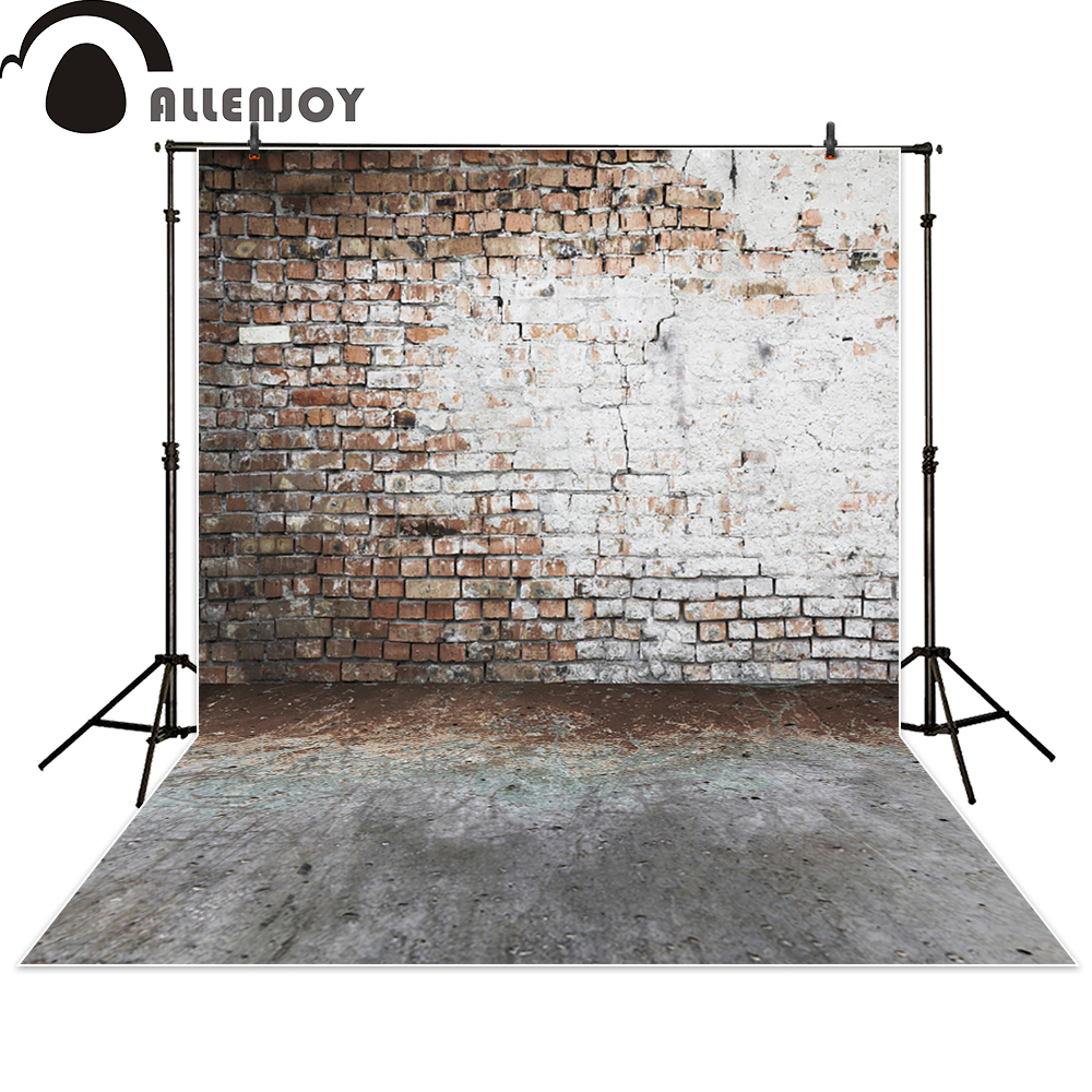 Allenjoy background photography brick wall vintage damaged backdrop photo studio fantasy photocall photographic 3x5ft crack gray wall brick wall photography backdrop background photo studio