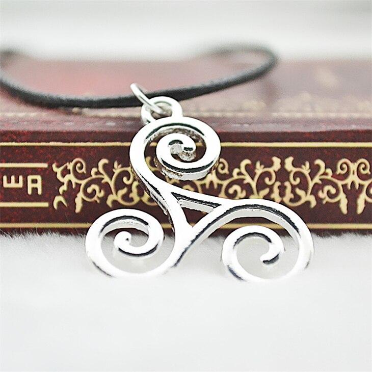 Teen Wolf necklace Triskele Triskelion Allison Argent silver color pendant jewelry for men and women wholesale