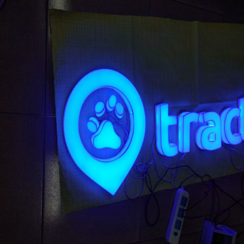 Outdoor 3D custom acrylic luminous signage front and side lit store letters