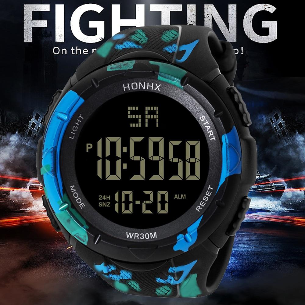 Digital Watch Men Women Relogio Sport Mens LED Digital Date Alarm Waterproof Sports Army Quartz Watch 2019