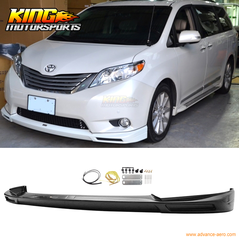 2016 Toyota Sienna Exterior: Fit For 2011 2015 Toyota Sienna Mp Style Front Bumper Lip