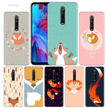 Lovely Animal Fox Tea Case for Xiaomi Redmi Note 7 7S K20 Y3 GO S2 6 6A 7A 5 Pro MI Play 9T A1 A2 8 Lite Poco F1 Soft Phone Bags(China)