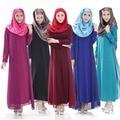 Искусственного 2 шт. исламская одежда для женщин шифон платья 2016 Fashionalbe мусульманские платья абая кафтан Большой размер одежды черный