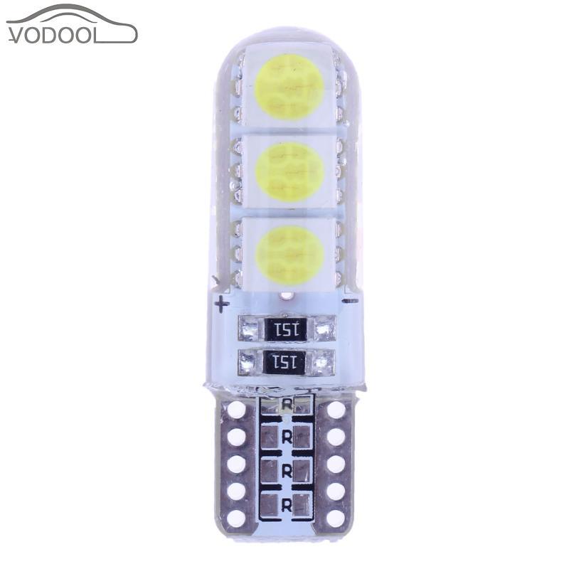 10Pcs T10 SMD 5050 LED Car Light Waterproof White Wedge Light Automobiles Small Light Bulbs Light-emitting Diode Trunk Lamp diy 5mm led light emitting diode set 50pcs
