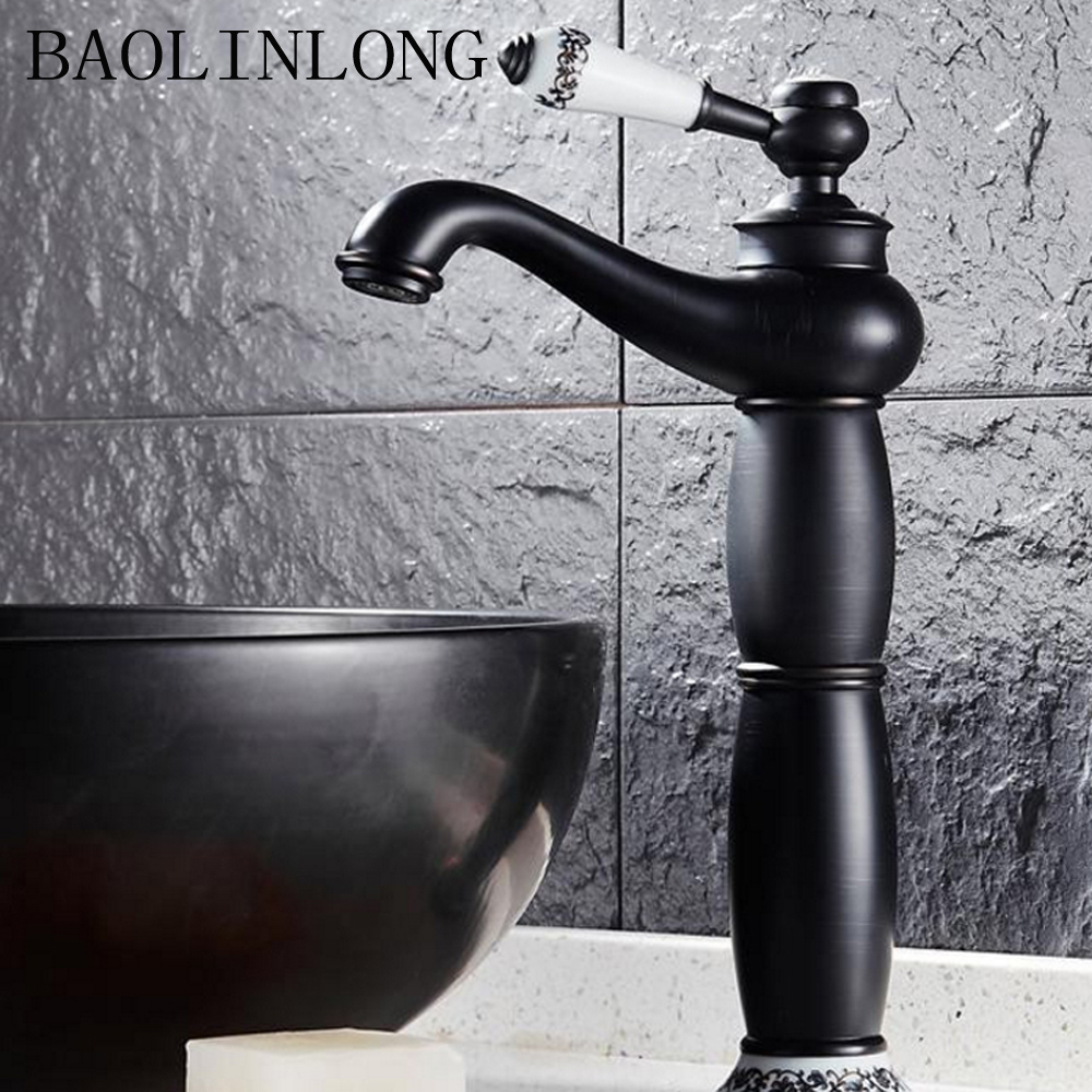 BAOLINLONG Brass Faucets Deck Mount Bathroom Basin Faucet Mixer Vanity Vessel Sinks TapBAOLINLONG Brass Faucets Deck Mount Bathroom Basin Faucet Mixer Vanity Vessel Sinks Tap