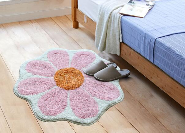 6565cm pinkgreengrey flower shaped rug absorbent mat foot pad 6565cm pinkgreengrey flower shaped rug absorbent mat foot pad bathroom anti slip carpet seat pad in carpet from home garden on aliexpress alibaba mightylinksfo