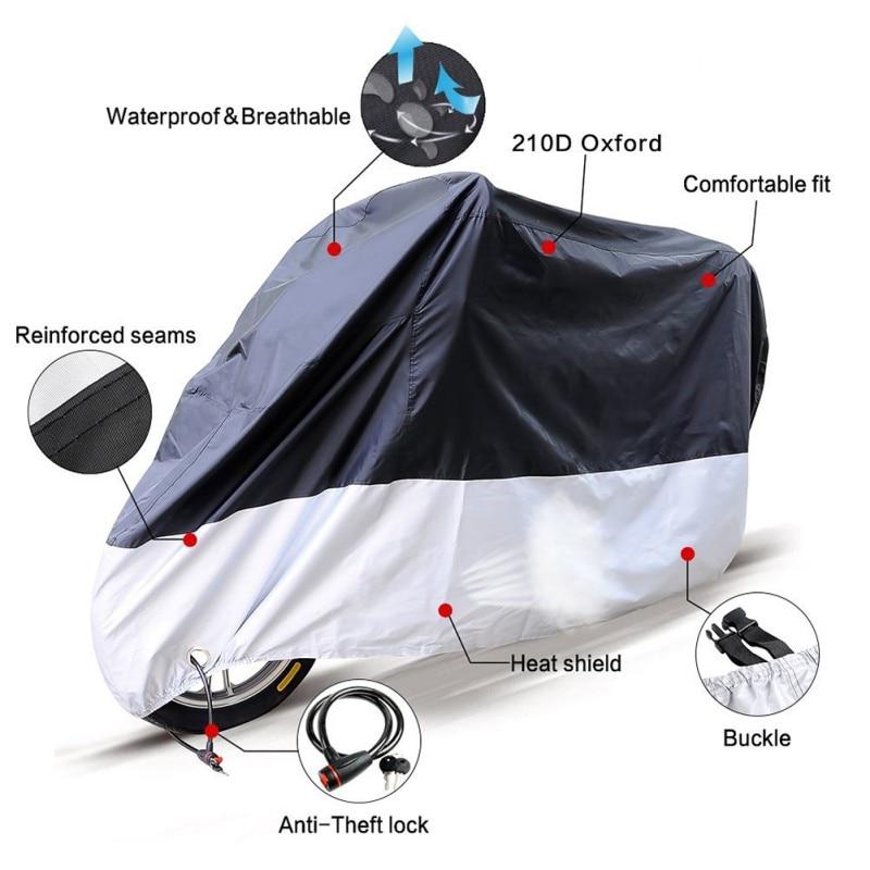 Universal Outdoor Uv Protector Bike Rain Dustproof Motorcycle cover for Scooter Covers waterproof 0255