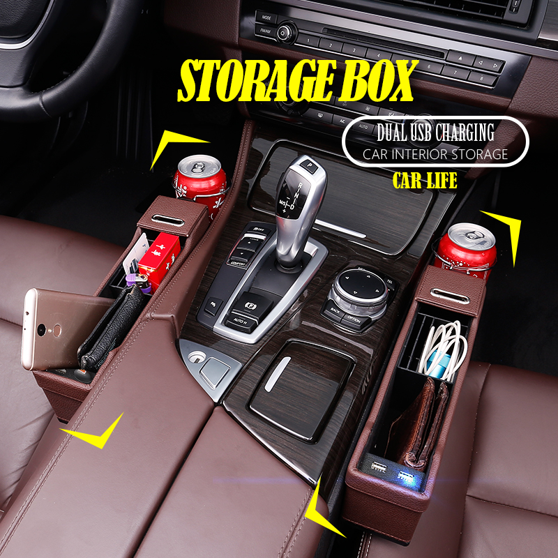Car Seat Gap Organizer Storage Box Detachable Cup Holder Car Interior Accessories Car Seat Storage Box Suitable for Most Cars