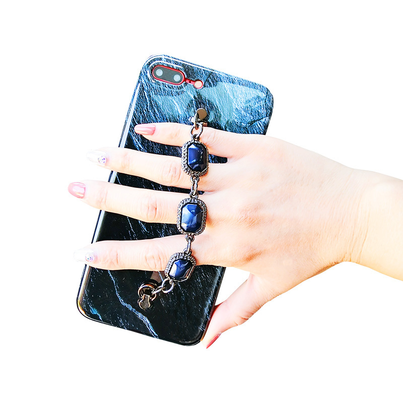 Luckywang For Iphone 7 Case marble Glue Bracelet Full Protect Woman Silicone Favourite For Iphone X Mobile Phone Bags Cases