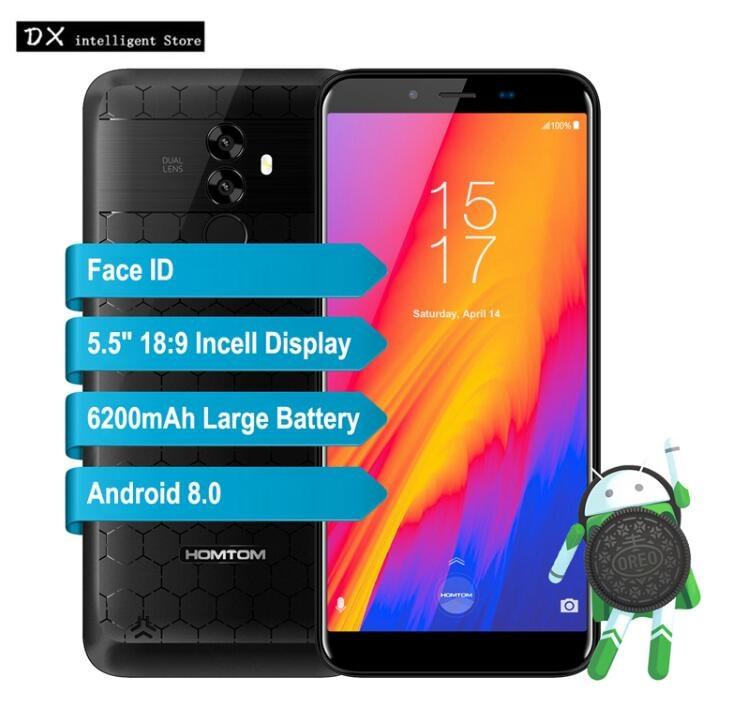 Homtom S99 6200 mah Accumulatori e caricabatterie di riserva Del Telefono Mobile 5.5 di pollice HD MTK6750 Octa Core 4 gb 64 gb Android 8.0 21MP doppia Fotocamera OTG di Impronte Digitali