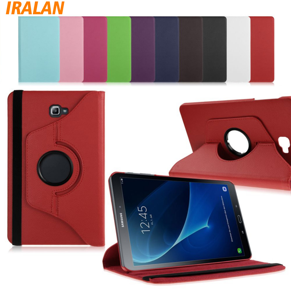 New 360 Rotating PU Leather Stand Case Cover For Samsung Galaxy Tab A 10.1 2016 T580 T585 Tablet Funda Cases+stylus free gifts