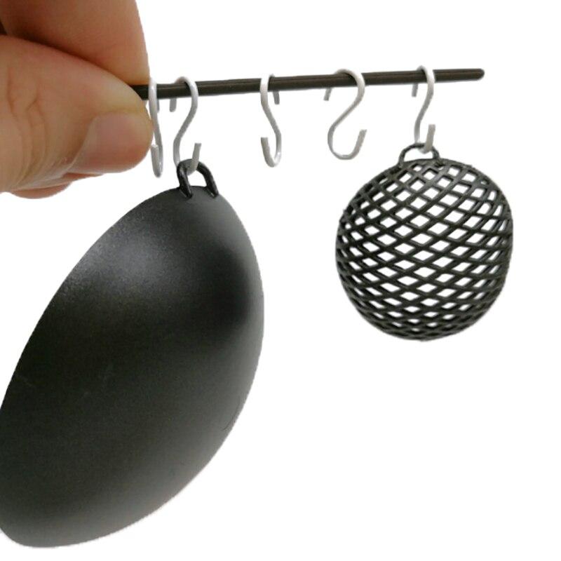 10Pcs Metal Hook Connectors 1:12 New Miniature Dollhouse S Hook Mini Doll Accessories Black/White Color