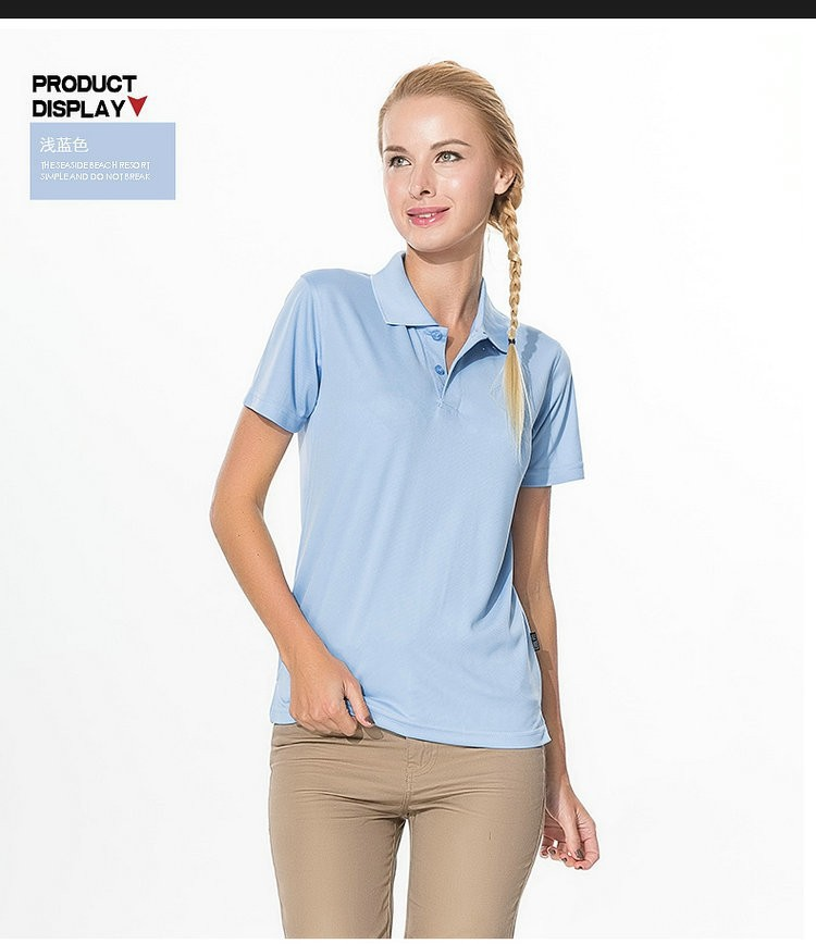 2016 brand quality wholesale sky blue tops for girls sports outfit womenu0026#39;s tennis polo women ...