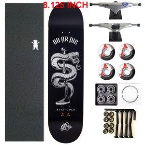 Image 5 - スケーター1セットプロ品質の完全なスケートボードデッキ8.125インチスケートボードホイール & トラック二ロッカースケートボードパーツ