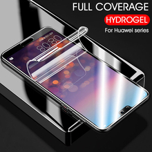 For Honor 8X Max 10 9 Hydrogel Protective Film 9D Full Cover Clear Screen Protector Film For Huawei P30 P20 Pro Mate 20 Pro Lite стоимость
