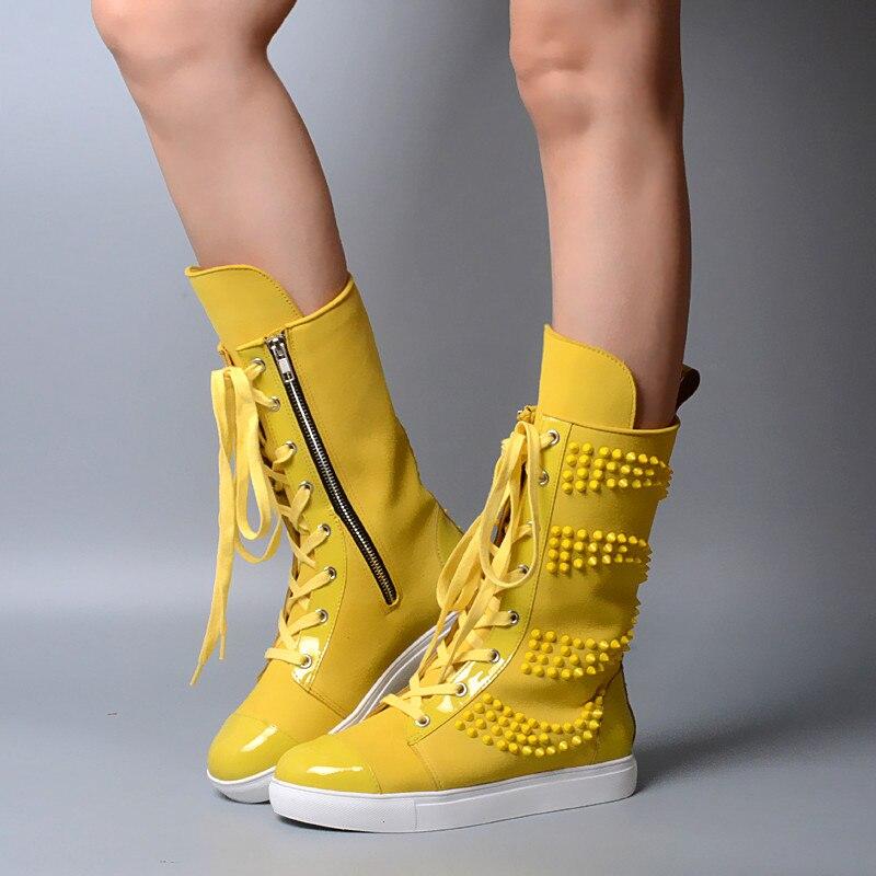 Prova Perfetto Высокие сапоги винтажные Сапоги для верховой езды туфли со шнуровкой на плоской подошве женские ботинки на платформе конфеты Цвета...