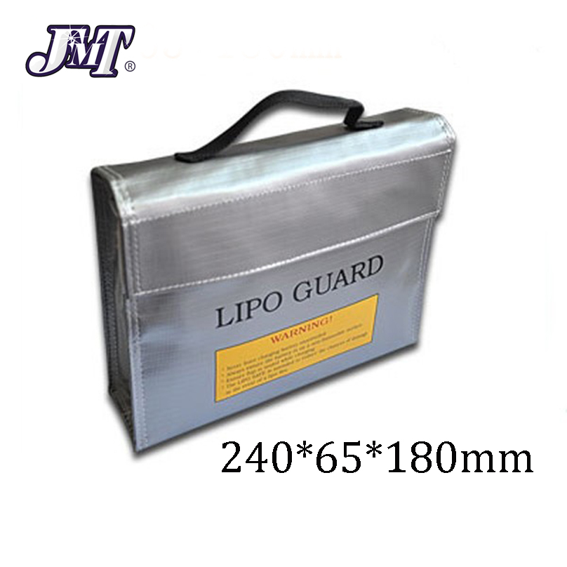 JMT High Quality Fireproof Explosionproof RC LiPo Battery Safety Bag Safe Guard Charge Sack 240*65*180MM image