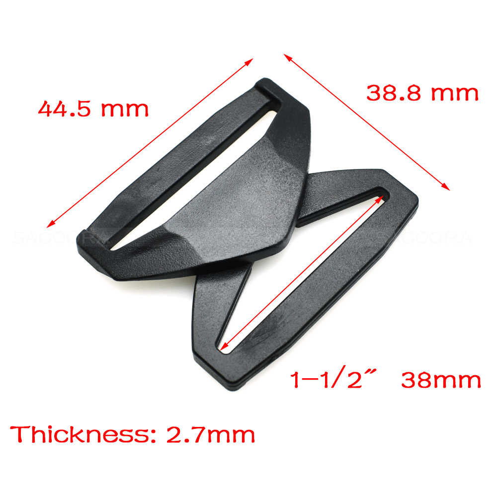2pcs 20mm 25mm 32mm 38mm 50 milímetros Webbing Plástico Fácil Liberação Fivela de Inserção Fivela de Cinto acessórios mochila Preta