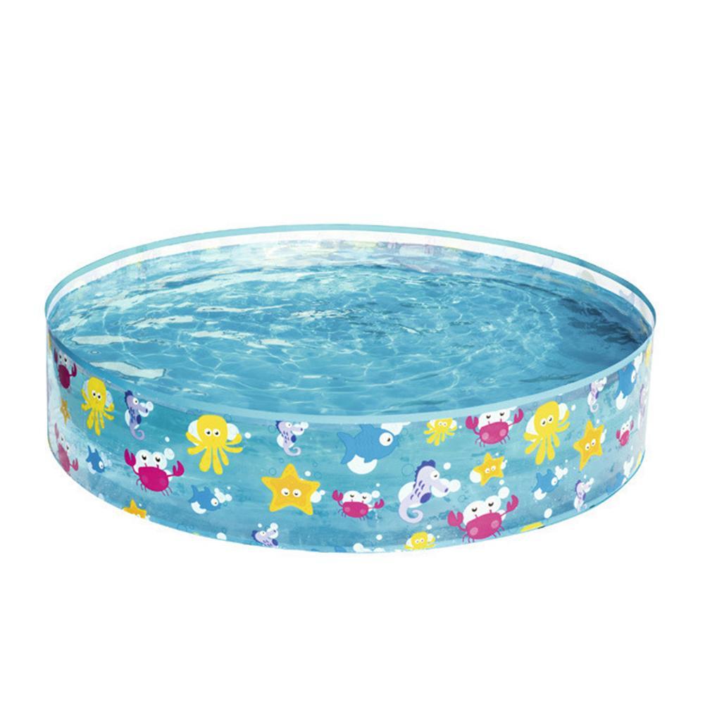 122x25CM Kid Inflatable Swimming Pool Marine Ball Pool Hard Rubber Round Infant Tub Hard Plastic Pool Wall And Solid Pool Bottom