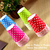 50pcs Pack Party Paper Cup Disposable Cup Color Dot Wave Point Manual Small Paper Cups
