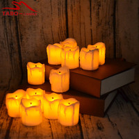 12pcs Flameless LED Electric Battery Powered Tealight Candles Yellow Tea Light Home Dinner Room Party Decor