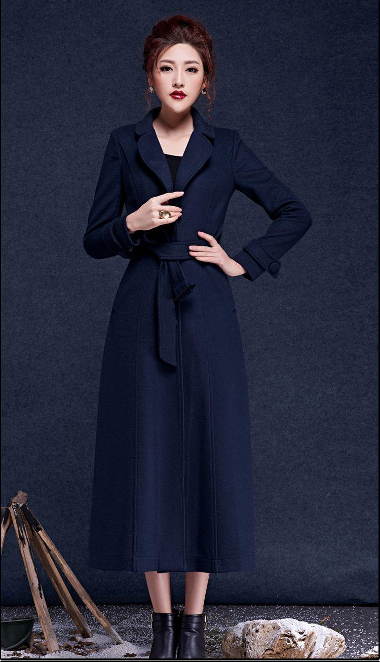 Manteaux Solide Laine D'hiver Et dark Manteau Longue Pardessus Mode Couleur Taille wine Femme Unique Automne Red Blue 2016 Nouvelle Poitrine Grande Black Veste SOxTTP