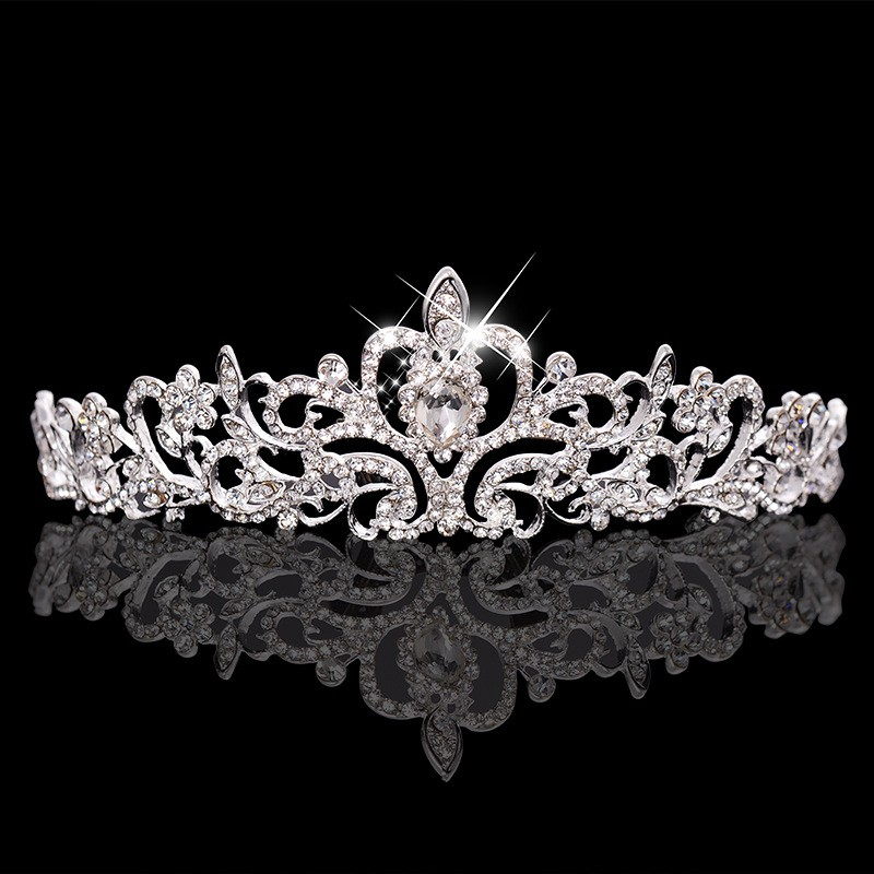 HTB1mRISLXXXXXbAXpXXq6xXFXXXJ Magnificent Bridal Prom Pageant Crystal Inlaid Queen Tiara Crown - 2 Styles