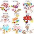 Berço Gira Em Torno Da Cama de bebê Brinquedos Do Bebê Carrinho De Criança Que Joga o Brinquedo Berço Torno Pendurar Chocalhos Mobiles 9 Cores