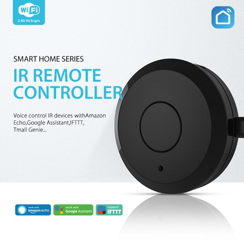 Умный дом автоматизация Интеллектуальный универсальный wifi + ИК переключатель с дистанционным управлением работа с Amazon Alexa Echo Dot Google Home-in Автоматические модули для дома from Бытовая электроника