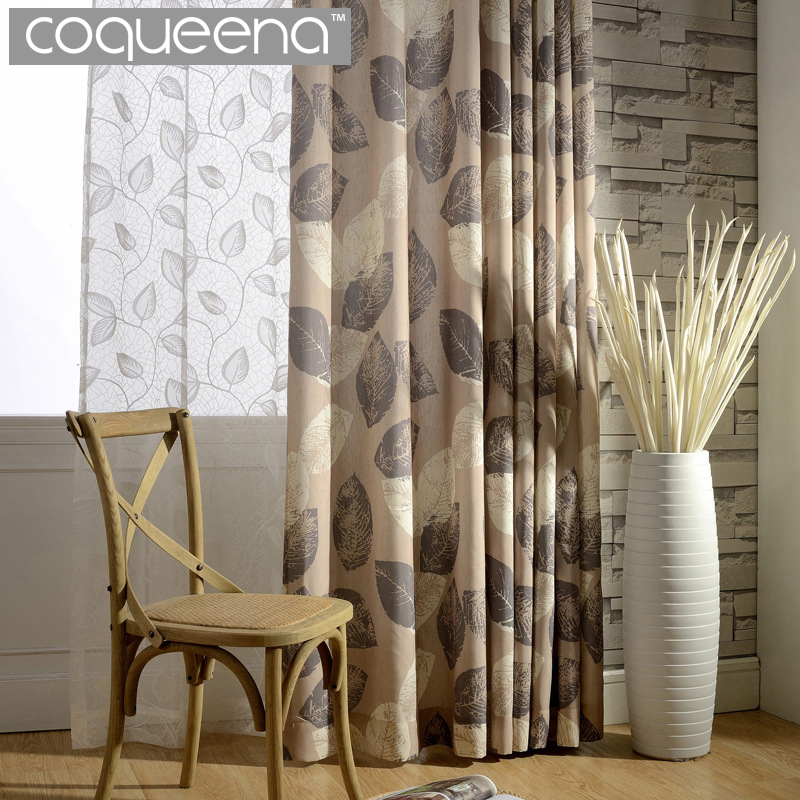 Elegant Luxury Linen Curtain For Living Room Bedroom Door Window Screen  Curtains Drapes Vintage Country Style