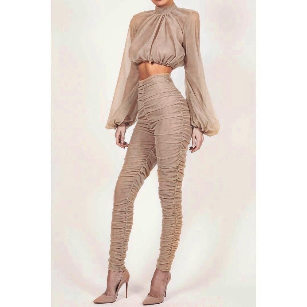 Deux Ceinture Crop Chaude Wear En 2018 La À Oloey Club Gros Mode Top Col Haut Costume Pièces Décoration Nouvelle Sexy Manches Longues 8Hf4wxBq