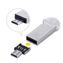 Ücretsiz kargo Yeni DM OTG adaptörü 50 adet/grup OTG fonksiyonu Dönüş normal USB içine Telefon USB flash sürücü Cep Telefonu Adaptörleri
