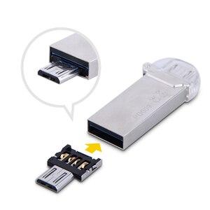 Image 1 - 送料無料新しいdm otgアダプタ50ピース/ロットotg機能ターン通常usbに電話usbフラッシュドライブ携帯電話アダプタ