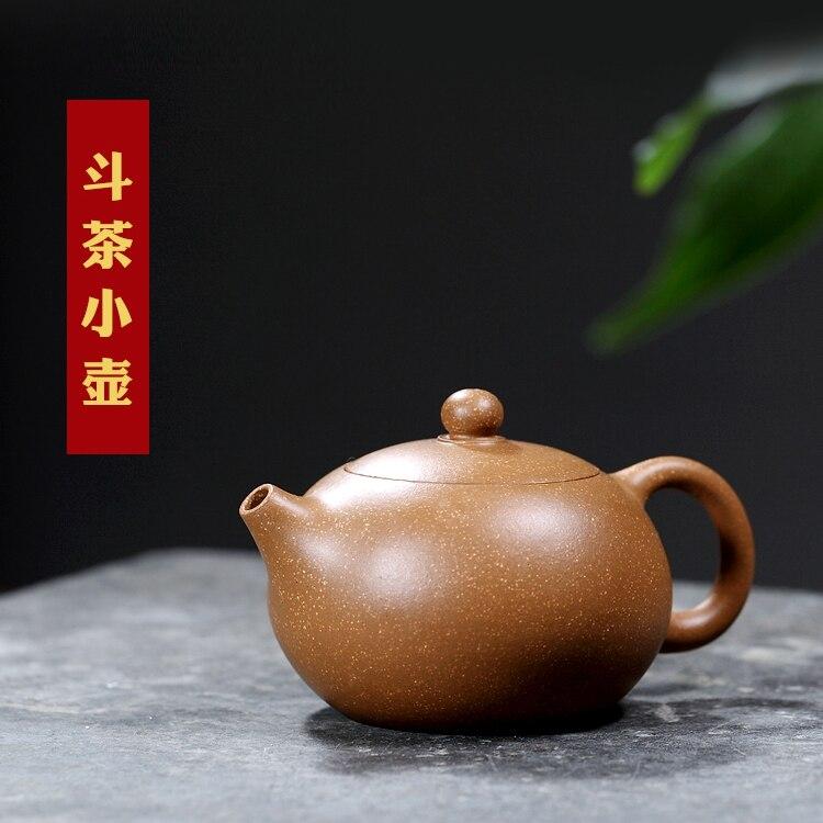 [pottery source] Yixing Li Xiaolu pure handmade master teapot, purple clay pot section, mud small Xi Shi