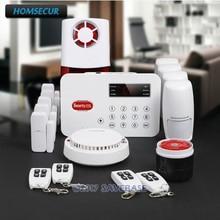 HOMSECUR Wireless Telephone Line Home House Alarm System +PIR+5*Door Sensor For The Elder