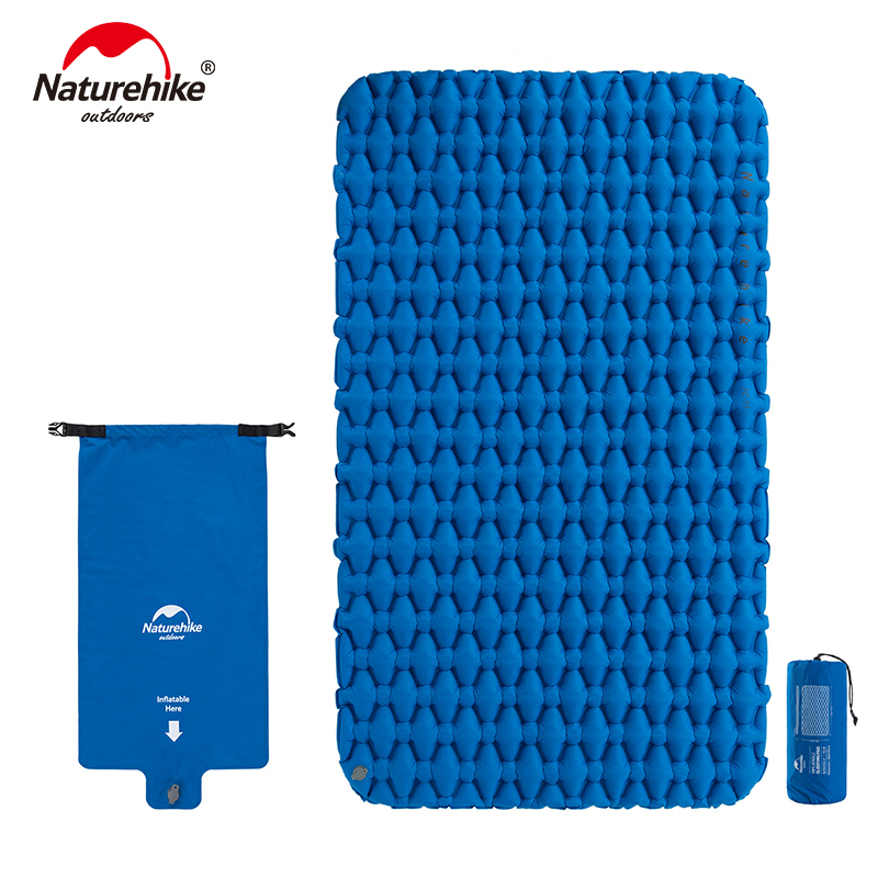 Naturehike 2 Person Camping Sleeping Pad Mattress Lengthened Inflatable Mat Portable With Air Bag Camping Mat
