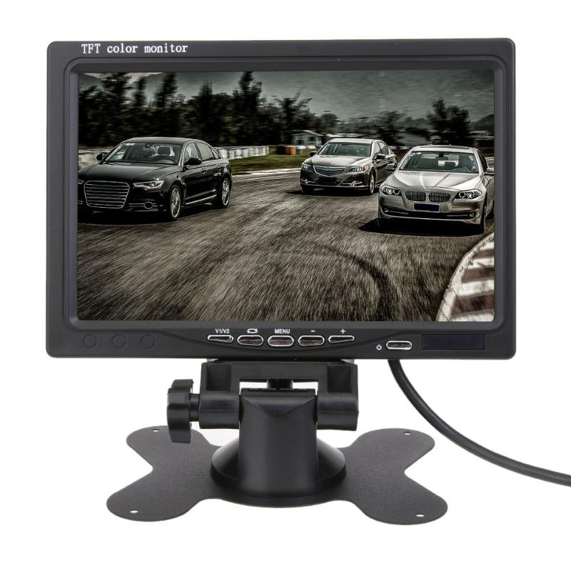 New 7 Inch TFT LCD Car DVD Headrest Display Split For Rear View Camera DVD Monitor For Rear View Camera GPS With Remote Control haisunny 9 inch tft lcd car monitor 4 split screen headrest rearview monitor with rca connectors 6 mode display remote control