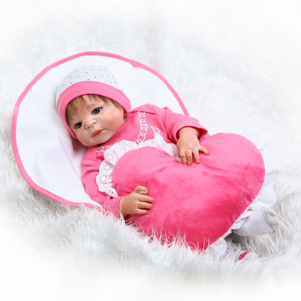 NPK Lovely Truly 23'' Girl Baby Reborn Dolls Full Vinyl Body Realistic Silicone Babies Doll Real Life New Born bebe Toddler Toys