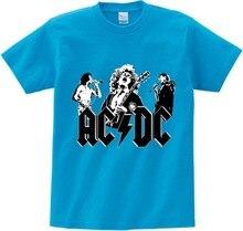 цена на COOL Big Boy&Girl Print AC DC Band Rock T-shirt O-Neck Short Acdc Graphic Heavy Metal Tops Tee Kids clothes Baby T Shirt  NN