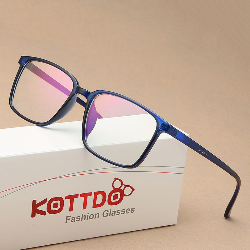 KOTTDO 2019 New Square Glasses Frame Fashion Trend Eyewear Glasses Frame Art Retro And Transparent Eye Glasses Frames For Women