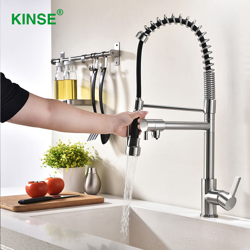 Kinse Luxury Top Material Modern Brushed Faucets Multi Functional