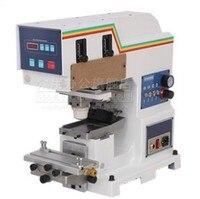 Пневматический мини pad печатная машина pad принтера + принт пластины + резина комбо