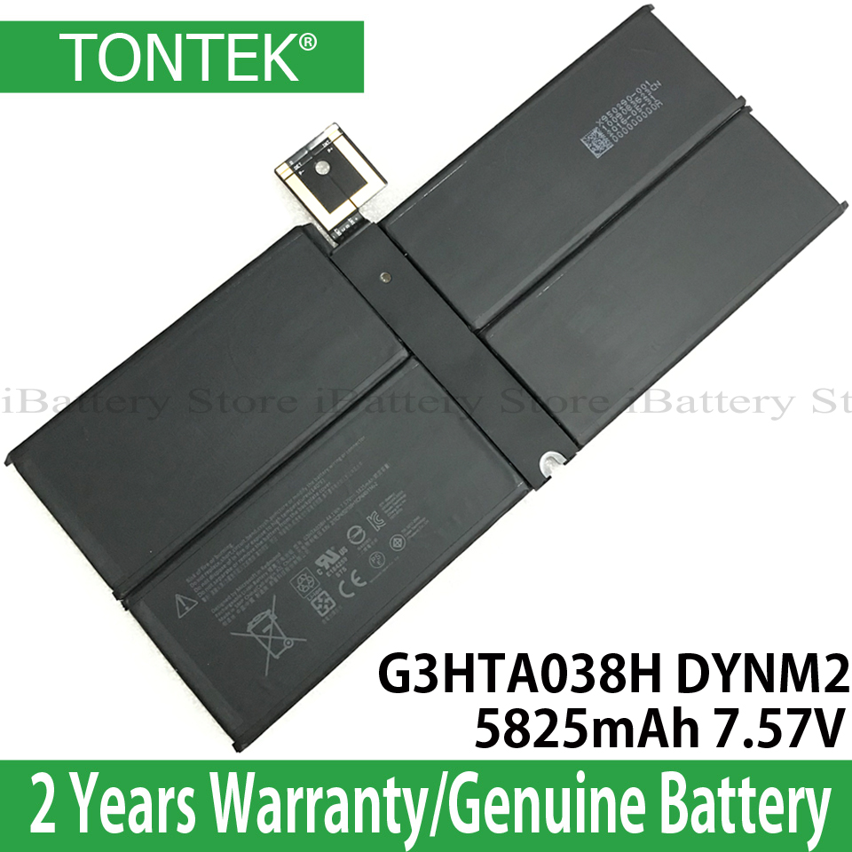 Genuine G3HTA038H Battery For Microsoft Surface Pro 5 1796 12.3'' Inch Tablet PC 2 In 1 Series DYNM02 Orignal Batteria Akku