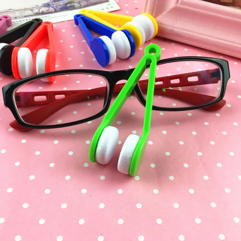 Dropshipping Car Accessorie Mini Portable Glasses Cleaning Rub Microfiber Cleaner Wiping Glasses Cleaning Tools Eyewear Brush